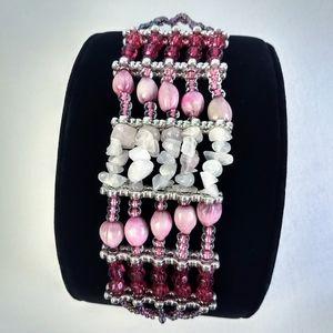 "Piece #380 ""Composition"" Handmade Cuff Bracelet"